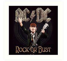 ac dc tour dates music rock or bust Art Print