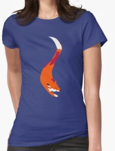 The Quick Orange-Red Fox Womens Fitted T-Shirt
