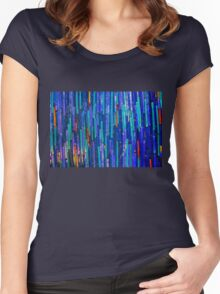 Ceramic tiles mosaic Women's Fitted Scoop T-Shirt