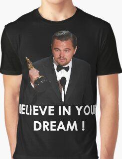 Leonardo Dicaprio Oscar dream Graphic T-Shirt