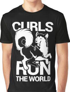 CURLS RUN THE WORLD Graphic T-Shirt