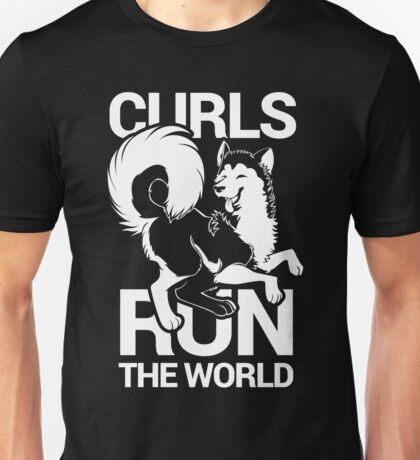 CURLS RUN THE WORLD Unisex T-Shirt