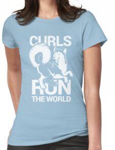 CURLS RUN THE WORLD Womens Fitted T-Shirt