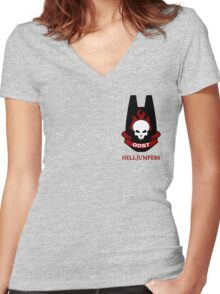 ODST Helljumpers Women's Fitted V-Neck T-Shirt