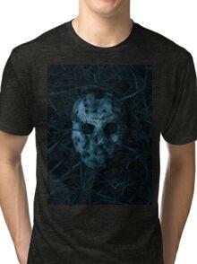Jason mask Tri-blend T-Shirt