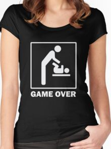 New Baby Game Over Women's Fitted Scoop T-Shirt
