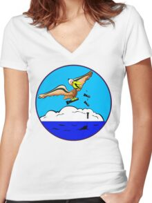 WWII Civil Air Patrol Patch Women's Fitted V-Neck T-Shirt