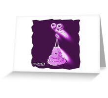 jellt alien cartoon style illustration purple pink Greeting Card