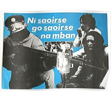 Ní saoirse go saoirse na mban - No freedom until women's freedom Poster