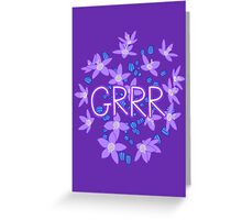 Grrr - Purple Flowers Explosion Greeting Card