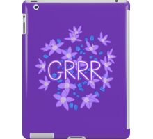 Grrr - Purple Flowers Explosion iPad Case/Skin