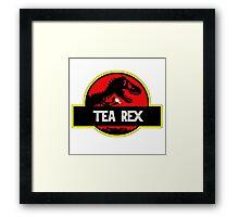 Tea Rex Coffee Relax Framed Print