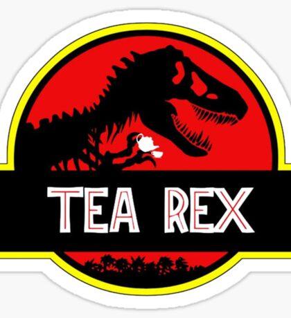 Tea Rex Coffee Relax Sticker