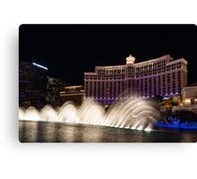 Midnight Dance - Silky Bellagio Fountains at Night Canvas Print