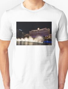 Midnight Dance - Silky Bellagio Fountains at Night Unisex T-Shirt