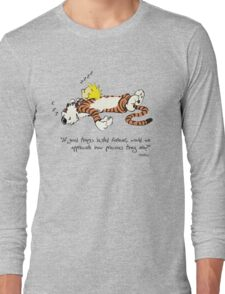 Calvin And Hobbes Quote Long Sleeve T-Shirt