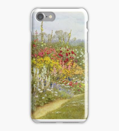 Helen Allingham - A Herbaceous Border iPhone Case/Skin