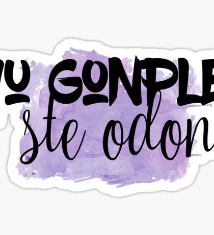The 100 - Yu Gonplei Ste Odon - Purple Sticker