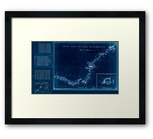 American Revolutionary War Era Maps 1750-1786 875 Sketch of Haddonfield Sketch of the road from Penny Hill to Black Horse through Mount Holly 1778 Inverted Framed Print