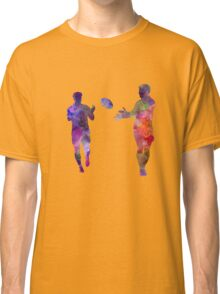 Rugby men players 04 in watercolor Classic T-Shirt