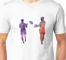 Rugby men players 04 in watercolor Unisex T-Shirt