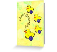 A Duck Family Happy Birthday card Greeting Card