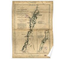 American Revolutionary War Era Maps 1750-1786 274 A survey of Lake Champlain including Lake George Crown Point and St John Poster