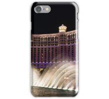 Midnight Dance - Silky Bellagio Fountains at Night iPhone Case/Skin