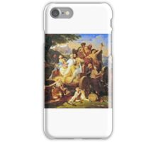 Henri-Frederic Schopin - Allegory, The Golden Age iPhone Case/Skin