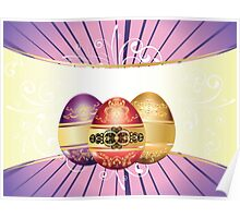 Decorative Easter Background Poster