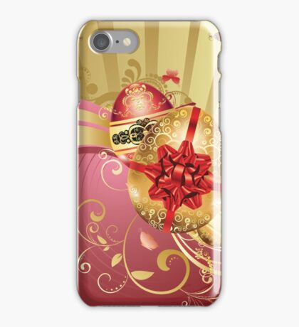 Decorative Easter Background 2 iPhone Case/Skin