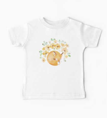 Nap under Yellow flowers Baby Tee