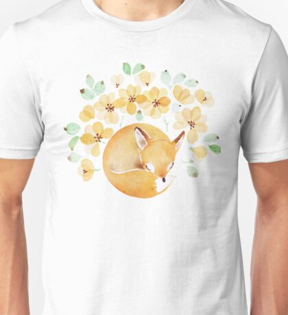 Nap under Yellow flowers Unisex T-Shirt