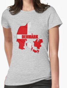 Denmark map Womens Fitted T-Shirt