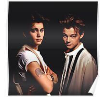Leonardo DiCaprio and Johnny Depp Poster