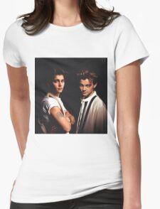 Leonardo DiCaprio and Johnny Depp Womens Fitted T-Shirt
