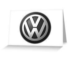Vw logo black Greeting Card