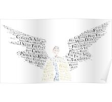 Castiel for Destiel (on white) Poster