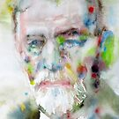 SIGMUND FREUD - watercolor portrait.11 by lautir