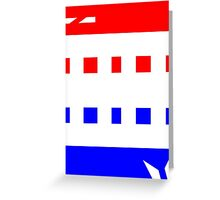 Contemporary Red Blue Design Greeting Card