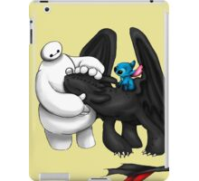 Baymax, toothless and Stitch iPad Case/Skin