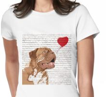 Dogue De Bordeaux Banksy Style Womens Fitted T-Shirt