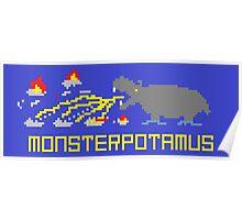Monsterpotamus Pixel Poster