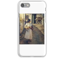 Henry Herbert La Thangue - Selling Chickens in Liguria iPhone Case/Skin