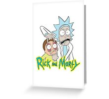 rick morty, rick, rick sanchez, cartoon, fun, youtube, science. Greeting Card