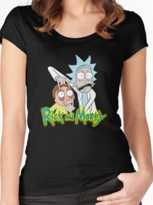 rick morty, rick, rick sanchez, cartoon, fun, youtube, science. Women's Fitted Scoop T-Shirt