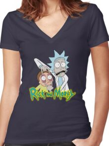 rick morty, rick, rick sanchez, cartoon, fun, youtube, science. Women's Fitted V-Neck T-Shirt