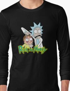 rick morty, rick, rick sanchez, cartoon, fun, youtube, science. Long Sleeve T-Shirt
