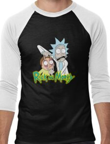 rick morty, rick, rick sanchez, cartoon, fun, youtube, science. Men's Baseball ¾ T-Shirt