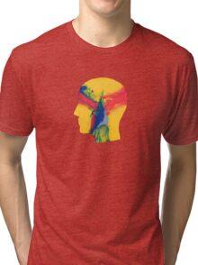 Feels like we only go backwards Tri-blend T-Shirt